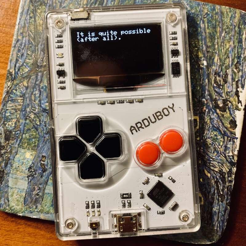 Arduboy handheld microconsole